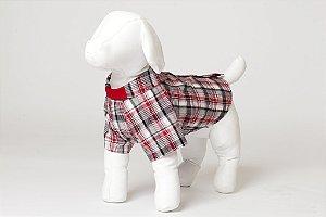 Roupinha para Cachorro Petisco - Vestidinho Fechado Malha Estampado