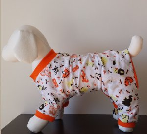 Roupinha para Cachorro Petisco - Pijama Tons Laranja