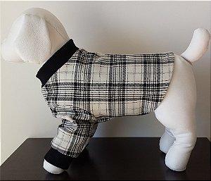 Roupinha para Cachorro Petisco - Jaqueta Lord Xadrez