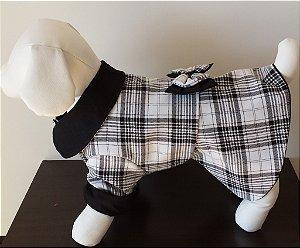 Roupinha para Cachorro Petisco - Vestido Caroline Xadrez