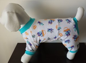Roupinha para Cachorro Petisco - Pijama Tons Azul