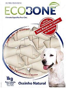 Ossinho Para Cachorro Natural 100% Vegetal Nó 7/8 - 1Kg