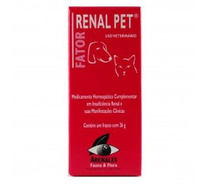 Fator Renal Pet - Arenales Homeopatia Animal - Insuficiência Renal