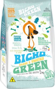 Bicho Green - Alimento 100% Vegetal • Vegano para Cães Adultos 1KG
