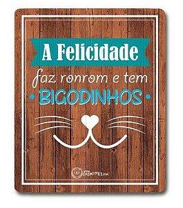 Placa Decorativa Madeira - Bigodinhos - CatMyPet