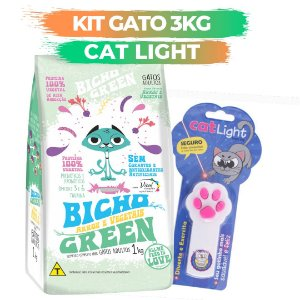 KIT BICHO GREEN GATO 3KG + CAT LIGHT