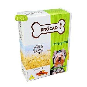 Krocão Biscoito Integral MINI Ossinho Mix 200 gr