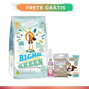 [ FRETE GRÁTIS ] - Combo 8KG Bicho Green Cães + Palito Ecobone 1kg + Krócão Côco 200g + Alcat Patas 200ml