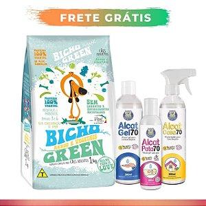 [ FRETE GRÁTIS ] - Combo 8KG Bicho Green Cães + Kit Alcat Pet