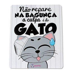 Placa Decorativa Preta - Não Repare na Bagunça - CatMyPet