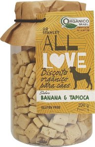 ALL LOVE - Biscoito Orgânico para Cães Banana e Tapioca - 200g