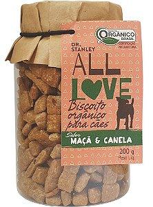 ALL LOVE - Biscoito Orgânico para Cães Maçã e Canela - 200g