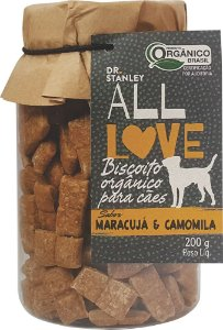 ALL LOVE - Biscoito Orgânico para Cães Maracujá e Camomila - 200g