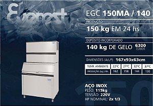 MÁQUINA DE GELO EVEREST EGC 150MA/140 (220V)