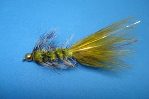 BEAD HEAD WOOLLY BUGGER OLIVE E GRIZZLY