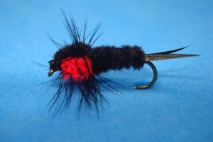 MONTANA NYMPH FLUO RED