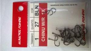 ANZOL CHINU W/R 1X -BLACK C/27 PÇS - ALBATROZ