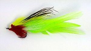 Dourado Muddler Grande Verde com Vermelho