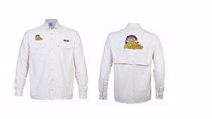 CAMISA FLY DOS PAMPAS- Camisa KING Antares com Proteção Solar Uv Ufp 50+ (Areia)