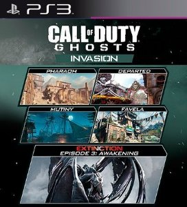Invasion Mapas PSN DLC Expansão CoD Ghosts - PS3