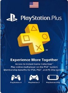 Card Psn Plus US Cartão Assinatura Playstation