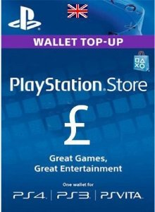 Card Psn UK Libras Cartão Playstation Ps3 Ps4 Vita