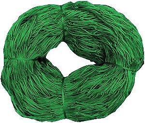 Rede de Proteção Esportiva 6x20m Fio 4mm Malha 15cm Verde Nylon