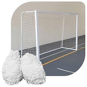 Par de Rede para Trave de Gol Futsal Sob Medida Fio 6 Nylon