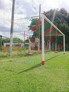 3dd89179e6d05 Par de Rede para Trave de Gol Futebol de Campo Sob Medida Duas Cores Fio 4mm