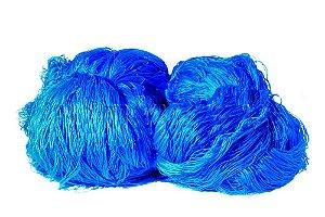 Rede de Proteção Esportiva 2x25m Fio 2mm Malha 15cm Azul Nylon