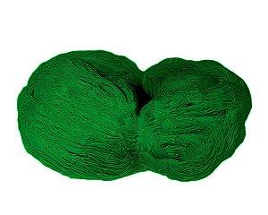 Rede de Proteção Esportiva 5x60m Fio 4mm Malha 15cm Verde Nylon