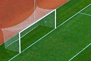 Par Rede Gol Futebol de Campo Fio 6mm Tipo México Nylon