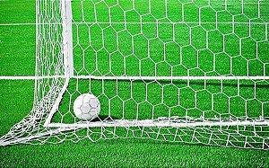 Par Rede Gol Futebol Campo Tipo Véu Colmeia Fio 2mm Seda