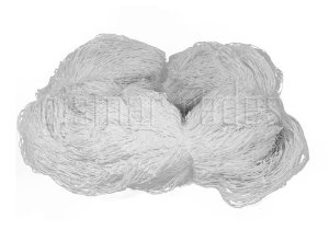 Rede de Proteção Esportiva 5x25m Fio 4mm Malha 12cm Branca Nylon