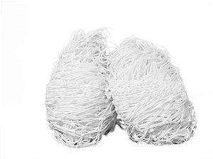 Par de Rede para Trave de Gol 3,70x2,65x0,60x0,60mts Fio 4mm Branca Nylon