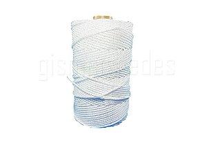 Bobina Corda Trançada 3mm Fios Polipropileno Branca