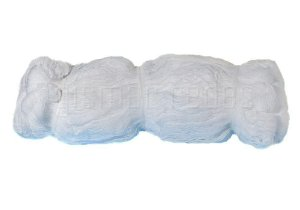 Fardo Rede de Proteção 70m² Fio 2,5mm Malha 5cm Cristal Polietileno
