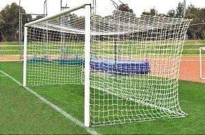 Par Rede Gol Futebol de Campo Fio 8mm Tipo México Seda