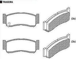 Pastilha de Freio Santa Fe 2.2 Crdi 4X4 2006 / Santa Fe 3.3 2007 / Santa Fe 2.7 / 3.5 V6 4X4 2006 / Sistema Brembo - CSP815