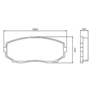 Pastilha de Freio Dianteira Edge V6 - 3.5L F/ Inj. ( 24 ) DOHC 07 / ... sem Alarme ( Jurid ) - CHQJ2254