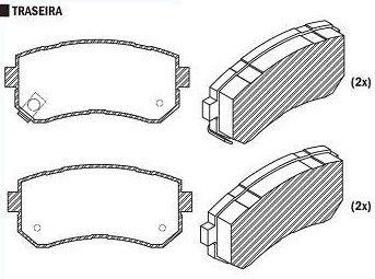Pastilha de Freio Hyundai I30 2.0 16V 2009 / Ix 35 2.0 16V 2010 / Sonata 2.4 16V 2011 / Kia Cerato 1.6 2009 / Sportage 2.0 16V 2010 / - CSP840