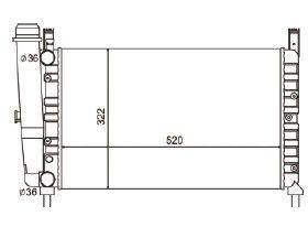 Radiador Uno / Fiorino / Prêmio 1.5 ( 87 - 93 ) com Vaso com / sem Ar / Manual / Aluminio Mecanico - CFB3621523