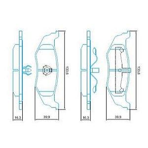 Pastilha de Freio Importada Cruiser 1.6L 16V Turbo 05 / ... Cruiser 2.4 sem Alarme ( Jurid ) - CHQJ4011