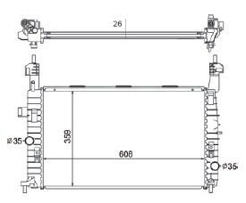 Radiador Meriva 1.8 ( 02 > ) com / sem Ar / Manual / Aluminio Brasado - CFB4381126