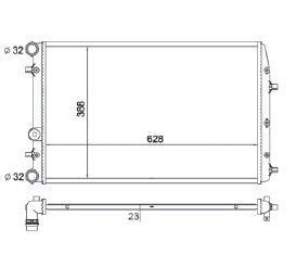 Radiador Fox 1.0 / 1.6 / Polo 1.6 ( 03 - 05 ) com Ar / Manual / Aluminio Mecanico - CFB5183523