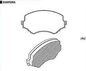 Pastilha de Freio Tracker2.0 Td 4X4 01 / Vitara 2.0 Td / 2.0I V6 95 / Vitara 1.6 16V / 2.0 16V 1990 / Akebono - CSP365