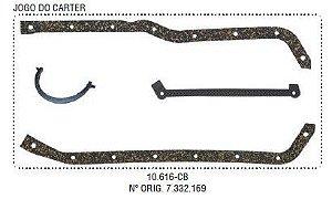 Jogo de Juntas do Carter Motor 151 / 153 Opala / A10 / C10 4C - CSS10616CB