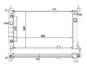 Radiador Astra 1.8 / 2.0 ( 95 - 98 ) Antigo ( Nt - 4419.132 ) com Ar / Automatico / Manual / Aluminio Brasado - CFB4419126