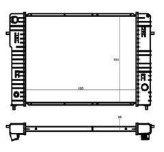 Radiador Omega 2.2 / 4.1 CD ( 95 - 98 ) com / sem Ar / Manual / Aluminio Brasado - CFB22566126