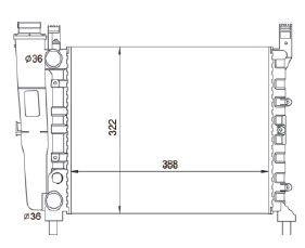 Radiador Uno / Fiorino / Prêmio 1.0 / 1.3 / 1.5 ( 85 - 93 ) com Vaso sem Ar / Manual / Aluminio Mecanico - CFB3666534